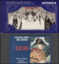 ANTIGUA / BARBUDA FALKLANDS IS 1977 SILVER JUBILEE BOOKLETS (ID:729/D40699)