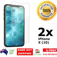 2x iPhone X 10 Glass Screen Protector 9H Premium Tempered Shatter Proof Apple