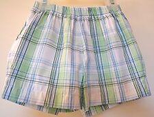 BNWT ~ Bella Bliss Blue/Green Plaid Shorts W/Back Pockets ~ Sz 12M ~ Cute