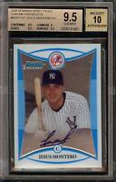 2008 Bowman Chrome Jesus Montero Rookie RC Autograph BGS 9.5 Gem Mint 10 Auto 11
