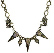 KIRKS FOLLY RAVEN'S SPELL NECKLACE brasstone NEW RELEASE black diamond crystals