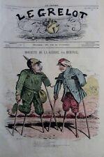 CARICATURE MORALITÉS DE LA GUERRE JOURNAL SATIRIQUE LE GRELOT N° 18 de 1871