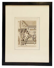 Framed antique French architectural print Louis XVI style detail from The Louvre