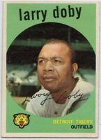1959 Topps #455 Larry Doby EX-EXMINT Detroit Tigers FREE SHIPPING