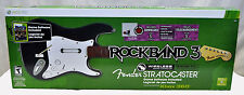SEALED NEW XBox 360 ROCK BAND 3 GAME + Wireless GUITAR Bundle Set Fender 1 2 4