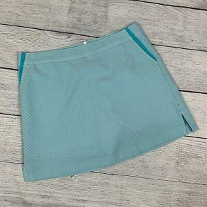 Lady Hagen 12 Skort Shorts under Skirt Golf Activewear Striped Blue Seersucker