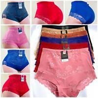 4-6 High Waist Briefs Tummy Control Girdles Lace Shaper Panties 69076 S-XL GIFTS