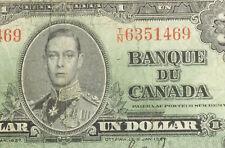 Canada 1937 1 Dollar Bank of Canada Banknote 575F