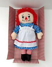 "Raggedy Ann 13"" Cloth Stuffed Doll 2015 Hasbro New Without Box"