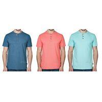 NWT Lee Men Perfect Fit Short Sleeve Comfort Premium Yarns Textured Henley Shirt