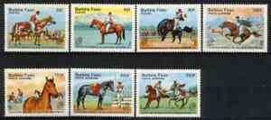 BURKINA FASO 1985 - SET HORSES ARGENTINA STAMPS EXHIB MNH