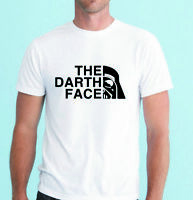 Men Tee Shirt Star Wars inspired The Darth Face Funny Print T Shirt tee top