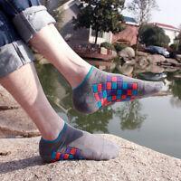 Men's Sport Ankle Socks Soft Cotton Socks Unisex Low Cut Casual Socks 5 Pairs