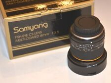 SAMYANG SY8M-O 8mm f3.5 Lens for Olympus Ultra Wide Angle Fisheye Lens