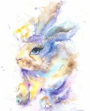 Watercolour Painting DREAMY BUNNY RABBIT by Sophie Appleton replica of Original