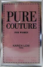 KAREN LOW PURE COUTURE PARIS 3.4 OZ / 100 ML EAU DE PARFUME NIB WOMEN SPRAY