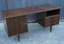 60er Nussbaum Schreibtisch Retro Danish Modern Tisch Büro Mid-Century Vintage