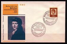 Berlin FDC MiNr 211 (1f) Bedeutende Deutsche: Heinrich von Kleist -Dichter-