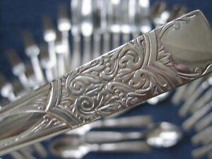 1948 INAUGURATION Scroll 48pc 8Pl Diamond Plate National Silverplate Flatware