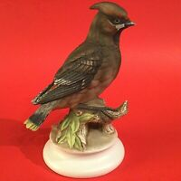 LEFTON BOHEMIAN WAXWING BIRD FIGURINE PORCELAIN HAND PAINTED KW1283 VINTAGE 6.5