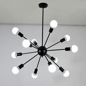 12 Lights Industrial Sputnik Chandelier Restaurant Pendant Lamp Ceiling Light US