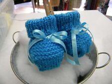 94331da1f04c9 abc broons chausson bébé bleu modele unique neuf layette tricot m11