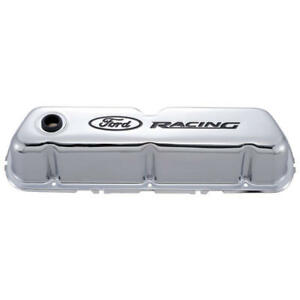 Proform Valve Cover Set 302-071; Ford Racing Chrome Steel for Ford 289/302/351W