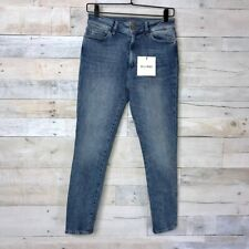 DL1961 Womens Farrow Skinny Jeans Blue High Rise Whiskered Pocket Stretch 27 New