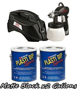 Plasti Dip 2 Gallon Kit of Matte Black + DYC DipSprayer System Gun Bundle