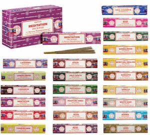 Satya Genuine Nag Champa Incense Sticks Incense Joss 15g from 1.29p Mixed Scents