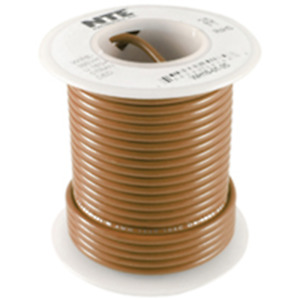 NTE WH22-01-100 Hook Up Wire 300V Stranded Type 22 Gauge 100 FT BROWN