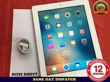 Apple iPad 2 16GB WiFi+Cellular (3G) Unlocked, White, Good Condition iOS9 Ref 27