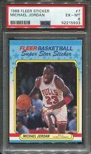 1988 Fleer Sticker #7 Michael Jordan PSA 6  HOF Chicago Bulls