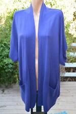 BeMe VIOLET BLUE Cardi NEW SIZE M-16/18 RRP $59.99 S/Sleeve Long Style Pockets