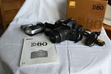 Nikon D D80 10.2MP Digitalkamera - Schwarz (Kit mit AF-S DX VR 18-55mm Objektiv)
