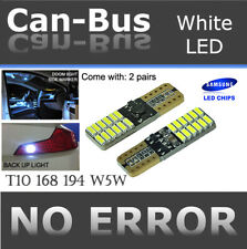 2 pr T10 White 24 LED Samsung Chips Canbus Direct Plugin Parking Light Bulb B119