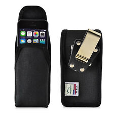 Turtleback iPhone SE 5 5s Black Vertical Nylon Pouch Holster Metal Clip Case