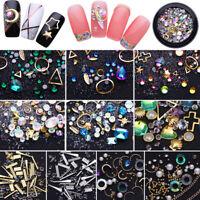 Crystal Nail Rhinestones Beads 3D Charm Mixed Gems  Nails Art Decoration