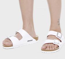 BIRKENSTOCK ARIZONA White Regular Slide Slip On Beach Sandals SIZE 37