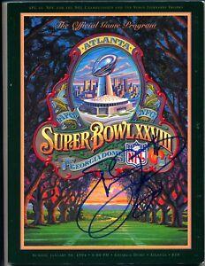 EMMITT SMITH AUTOGRAPHED SIGNED 1994 SUPER BOWL XXVIII PROGRAM  MVP HOF  PSA/DNA
