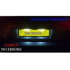 Vauxhall Corsa C D VXR 05-11 Número De Matrícula LED Bombillas-Xenon Blanco