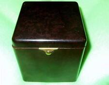 VERY RARE OLD MECHANICAL DEMLEY CIGARETTE CASE; BAKELITE  tobacco burl look