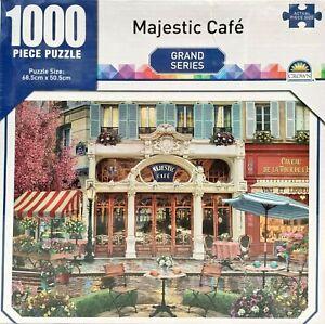 Crown 1000 Piece Jigsaw Puzzle Majestic Cafe Street Grand Series 68.5 x 50.5 cm