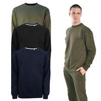 Soulstar Classic Mens Sports Plain Sweater Jumper Gym Tracksuit Top Activewear