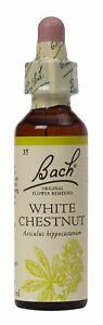 Bach Flower Remedies, White Chestnut  20ml. BBE 12/2025