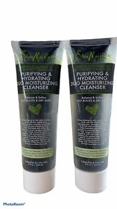 2 Shea Moisture PURIFYING AND HYDRATING DUO MOISTURIZING CLEANSERS 9 oz each