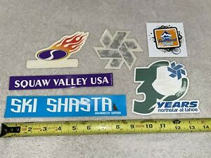 LAKE TAHOE SKI RESORT STICKERS SHASTA NORTHSTAR SQUAW