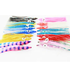 25ps 3in/7.5cm Octopus Trolling Bait soft Hoochies Squid Skirt Soft Fishing Lure