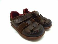 Clarks First Steps Baby Boys Leather Shoes Sandals Size 4F Infant