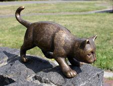 Bronzeskulptur Katze Dekoration für Haus und Garten